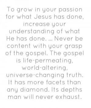 Mahaney May the gospel always be life permeating.