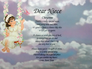 Details about NIECE POEM PERSONALIZED ANGEL LITHO PRINT BIRTHDAY GIFT