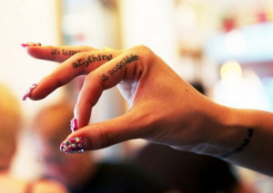 quotes finger tattoo fade Finger Tattoos Fade Away