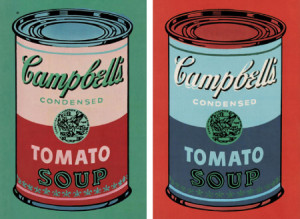 Campbell s Soup Can 1965 pink amp red and Campbell s Soup Can