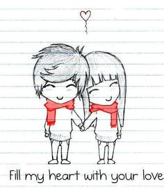 tumblr quotes more quotes illustration cute cartoon couple cute couple ...