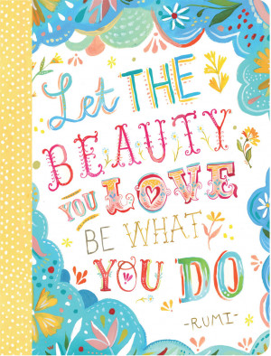 Journal - Katie Daisy Beauty Quote