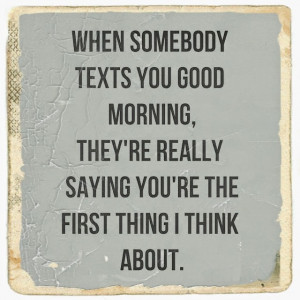 Romantic good morningtexts for her!