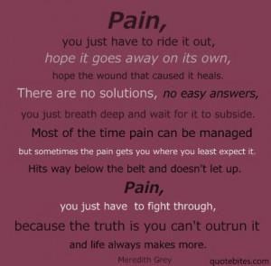Meredith Grey.. Pain