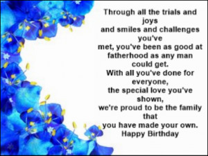Free Birthday Card Verses For Your Step-Father
