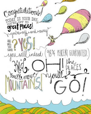 Great quotes by dr seuss oh the places youll go dr seuss quotes