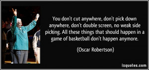 You don't cut anywhere, don't pick down anywhere, don't double screen ...