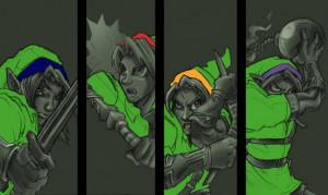 13708 Zelda Art Zelda Link Evolution