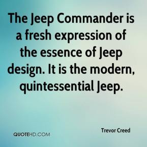 Trevor Creed - The Jeep Commander is a fresh expression of the essence ...