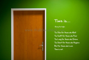 Time Is Quotes Wall Stickers