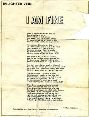 Funny Senior Citizen Poems