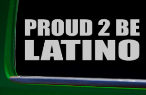PROUD to BE LATINO sticker brown pride mexican puerto rican decal