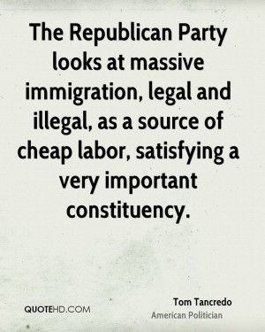 The Republican Party looks at massive immigration, legal and illegal ...