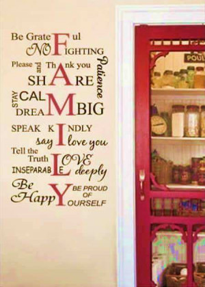 family rules wall quotes wall stickers