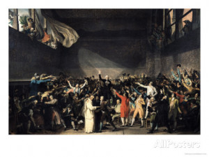 The Tennis Court Oath, 20th June 1789, 1791 Giclee Print