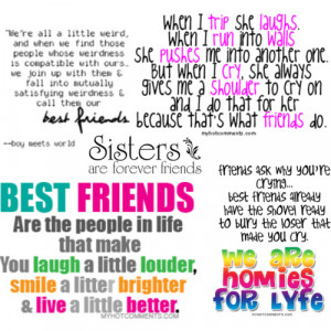 FRIENDS/SISTERS QUOTES - Polyvore