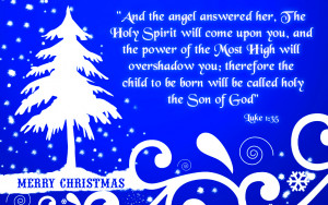 Christmas Greeting card with Bible Verses About Jesus Birth in Luke 1 ...