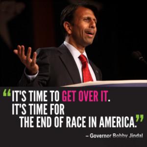 It's time to get over it. It's time for the end of race in America.