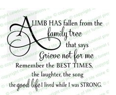 fallen limb funeral poem colors available more fallen limb quotes ...