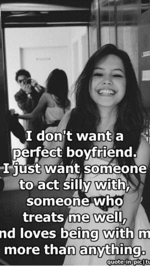 What I want in a boyfriend