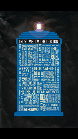 Tardis Doctor Who Quotes HD Wallpaper