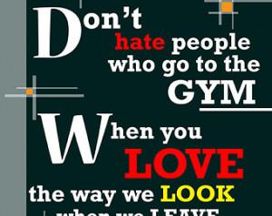 Gym Quote, Fitness Motivation, Self Esteem, Art Print, Wall Art, Gym ...