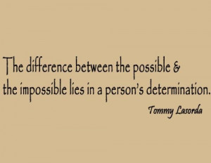 Tommy Lasorda Dodgers Wall Quote Baseball Sports - The Difference ...