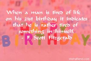 Funny 21 Birthday Quotes