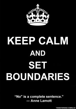 Motivational Meditation Monday: Keep Calm and Set Boundaries