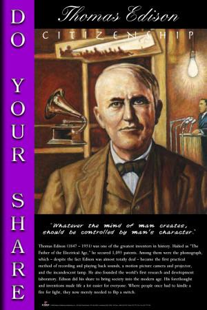 Thomas Edison (Code A6) Citizenship - Do Your Share