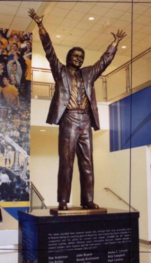 statue of himself in the Al McGuire Center (where the men's team ...