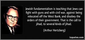that Jews can fight with guns and with civil war, against being ...