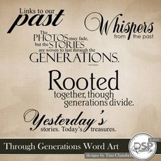 Ancestry Quotes for Scrapbooking | ... Scrapbook Place, Inc. , High ...