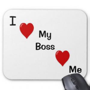 Love My Boss My Boss Heart Me Fun Boss Mousepad