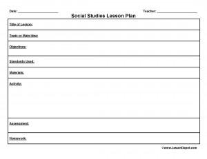 Preschool Lesson Plan Template Free Lesson Plan Templates
