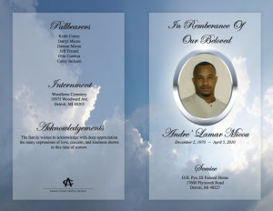 Funeral Program (Outer Spread)