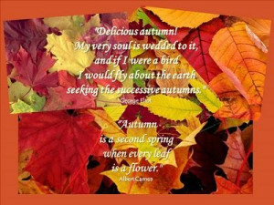 Seasonal Soundings: Welcome, Autumn!