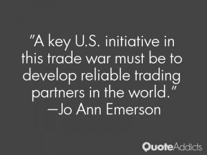 key U.S. initiative in this trade war must be to develop reliable ...