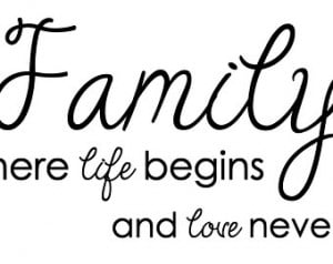 ... And Love Never Ends - Vinyl Quote - Vinyl Decal - Custom Family Decal