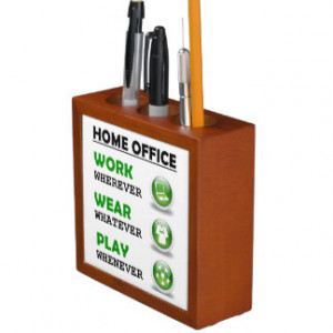 Work From Home Office Funny Quote Desk Organizers