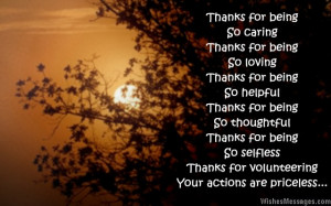 Thank You Quotes For Volunteers Thank you quotes for