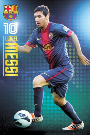 Barcelona Football Club - Lionel Messi Focus Soccer/Football Poster