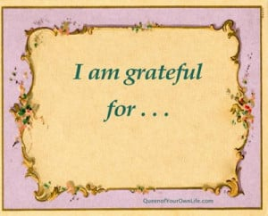 am grateful for.....