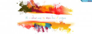 Quote about Colorful Life Facebook Cover Preview