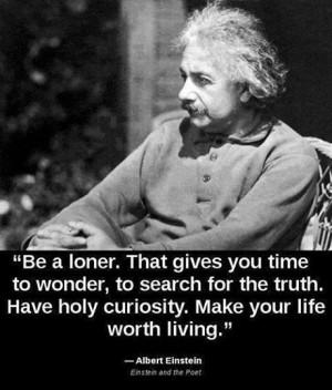 Albert Einstein on being a loner.