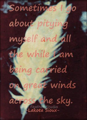 Carried by wind 4x6 inspirational quote ON SALE