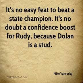 It's no easy feat to beat a state champion. It's no doubt a confidence ...