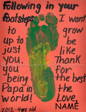 in Daddy's Footsteps - Father's Day Footprint Craft: Footprints ...