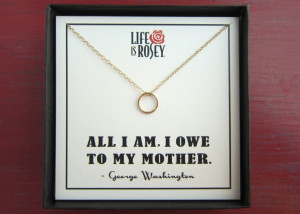 (and affordable) Mother's Day Gift! Life is Rosey Necklace Quote ...