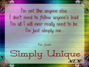 simply unique quotes